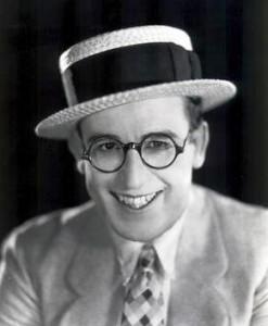 Harold Lloyd in black rimmed glasses
